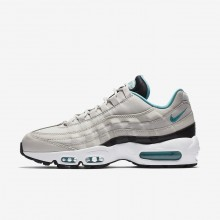 Nike Air Max 95 Essential Lifestyle Shoes For Men Light Bone/Black/White/Sport Turquoise 827XLCNZ
