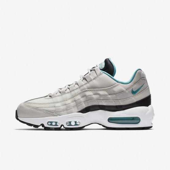 Nike Air Max 95 Essential Lifestyle Shoes For Men Light Bone/Black/White/Sport Turquoise 827XLCNZ