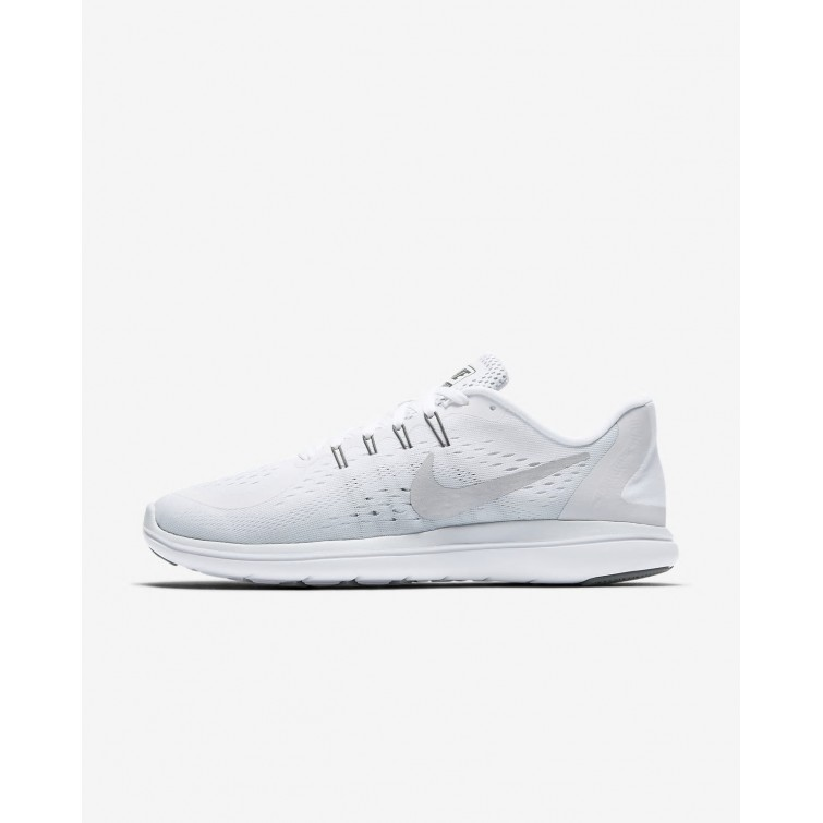 new styles 1d550 3c37f Nike Flex 2017 RN Hardloopschoenen Dames WitPlatinaGrijsMetal Zilver  678LFPGX