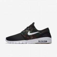 Nike SB Stefan Janoski Max Skateboarding Shoes For Men Black/Medium Olive/Gum Light Brown/White 799EQDPI
