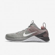 Nike Metcon DSX Flyknit 2 Training Shoes For Women Matte Silver/Rust Pink/Gunsmoke/White 995VINGJ