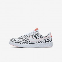Nike Blazer Low QS Lifestyle Shoes For Boys White/Black/Bright Crimson 706UYJGD