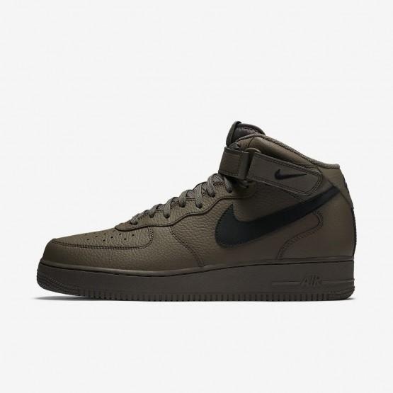 Sapatilhas Casual Nike Air Force 1 Mid 07 Homem Pretas 593AVXEN