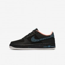 Nike Air Force 1 Pinnacle QS Lifestyle Shoes For Boys Black/Crimson Pulse/Summit White/Lagoon Pulse 926JMETN