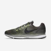 Nike Air Zoom Pegasus 34 Running Shoes For Men Sequoia/Dark Stucco/Volt/Black 411PTSNY