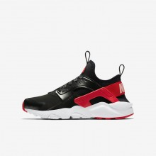 Nike Air Huarache Run Ultra QS Lifestyle Shoes For Girls Black/Bleached Coral/Speed Red 631NVADS