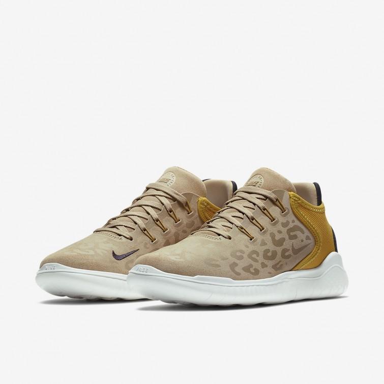 197786ca4bfa ... Nike Free RN 2018 Wild Running Shoes For Women Desert Yellow Ochre Oil  Grey