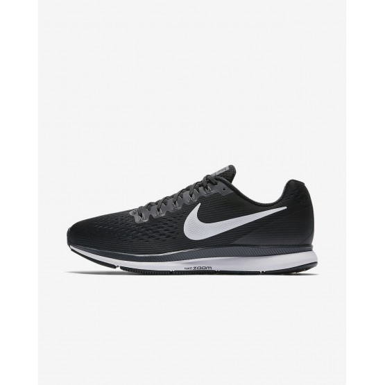 Nike Air Zoom Pegasus 34 Running Shoes For Men Black/Dark Grey/Anthracite/White 638UIWNB