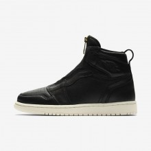 Nike Air Jordan 1 High Zip Lifestyle Shoes For Women Black/University Red/Sail 188LHNTB