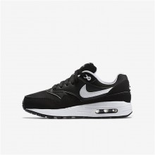 Nike Air Max 1 Lifestyle Shoes For Boys Black/White 680FIPVC