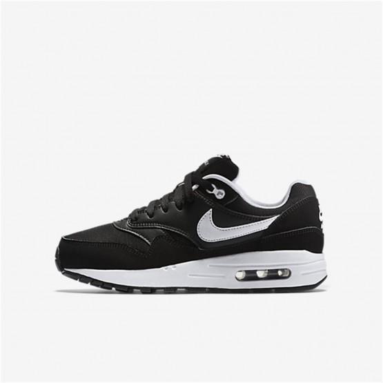 Nike Air Max 1 Lifestyle Shoes For Boys Black/White 680FIPVC