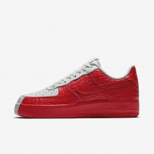Nike Air Force 1 07 Premium Lifestyle Shoes For Men Barely Grey/Habanero Red 824DUALZ