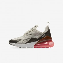 Nike Air Max 270 Lifestyle Shoes For Boys Light Bone/Black/Hot Punch/White 117BYCDG
