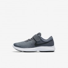 Nike Revolution 4 Running Shoes For Girls Dark Grey/Cool Grey/White/Black 762UDFCT