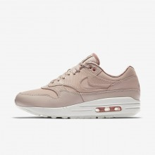 Nike Air Max 1 Premium Lifestyle Shoes For Women Particle Beige/Particle Pink/Summit White 690KFCUY