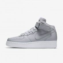 Nike Air Force 1 Mid 07 Casual Schoenen Heren Grijs/Wit 216XOBWY