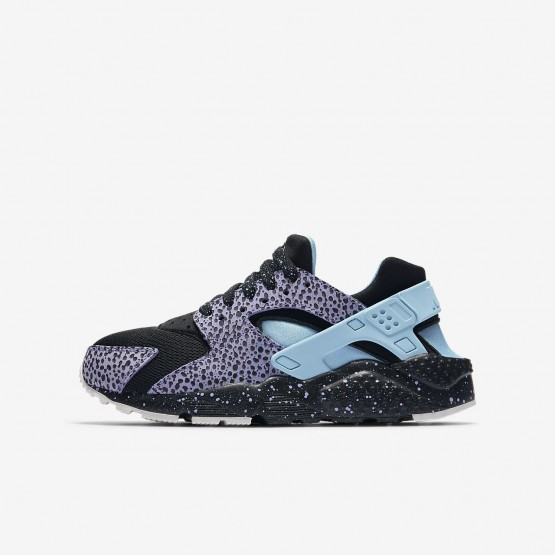 Nike Huarache Pinnacle QS Lifestyle Shoes For Boys Black/Purple Pulse/Summit White/Lagoon Pulse 881XVTFL