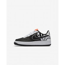 Zapatillas Casual Nike Air Force 1 LV8 Niño Negras/Blancas 439ARTIN