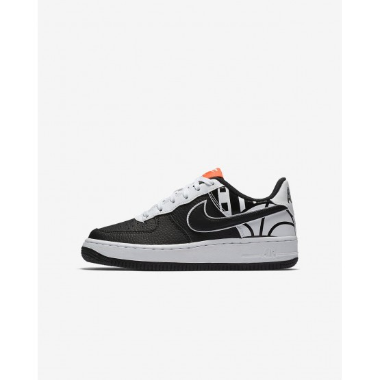 Nike Air Force 1 LV8 Lifestyle Shoes For Boys Black/White 624WINPH