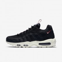 Nike Air Max 95 Lifestyle Shoes For Men Black/Gym Red/Sail 770RIHEA