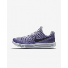 Nike LunarEpic Low Flyknit 2 Running Shoes For Women Wolf Grey/Purple Earth/Dark Raisin/Black 204YDQIW