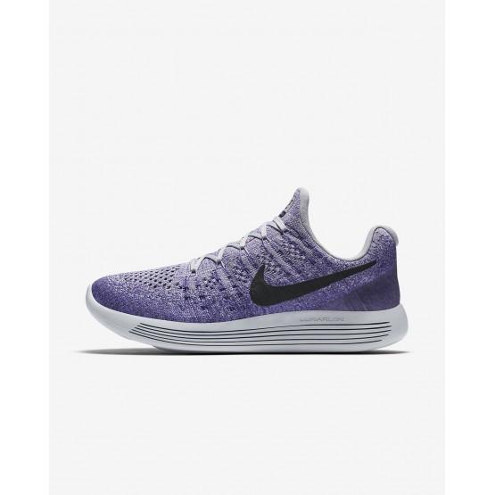 Nike LunarEpic Low Flyknit 2 Running Shoes For Women Wolf Grey/Purple Earth/Dark Raisin/Black 204YDQIW