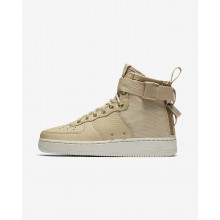 Nike SF Air Force 1 Mid Lifestyle Shoes For Women Mushroom/Light Bone 454GZIWC
