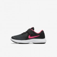 Nike Revolution 4 Running Shoes For Girls Black/White/Racer Pink 769GSQRE
