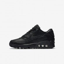 Nike Air Max 90 Leather Lifestyle Shoes For Boys Black 871XPSQB