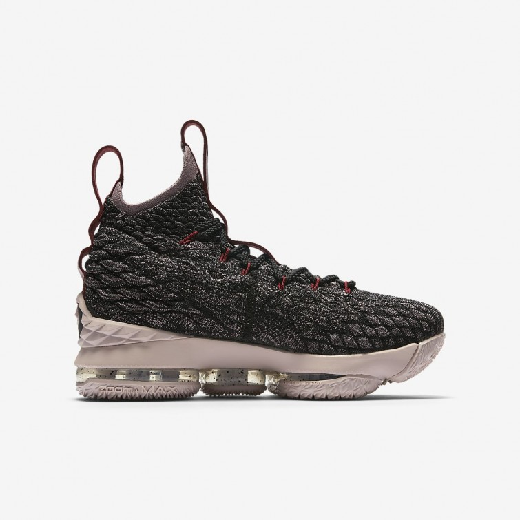 fc4be557612c ... Nike LeBron 15 Basketball Shoes For Boys Black Team Red Metallic Gold  189ZQEYW ...