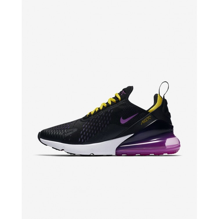 bc7df5058c Nike Air Max 270 Lifestyle Shoes Mens Black/Hyper Grape/Tour Yellow/Hyper