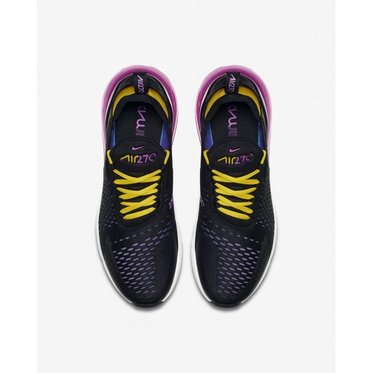 3b8d3c0cae ... Nike Air Max 270 Lifestyle Shoes Mens Black/Hyper Grape/Tour Yellow/ Hyper ...