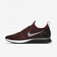 Nike Air Zoom Mariah Flyknit Racer Lifestyle Shoes For Men Deep Burgundy/Team Red/Vintage Wine/Pure Platinum 896NOHKT
