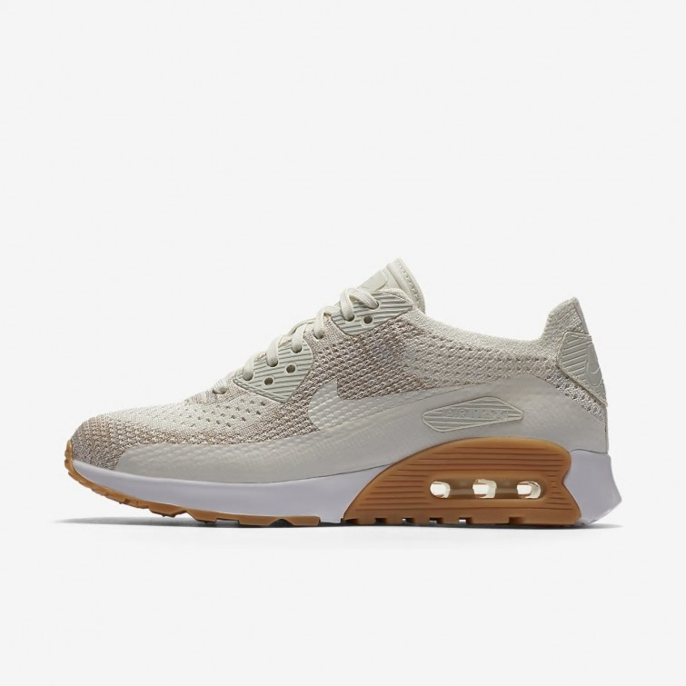 3e7b021657b98 Nike Air Max 90 Ultra 2.0 Flyknit Lifestyle Shoes For Women Sail Sand Gum