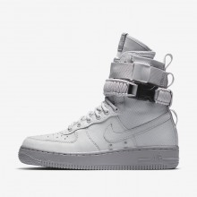 Nike SF Air Force 1 Lifestyle Shoes For Women Vast Grey/Atmosphere Grey 734RHZKX