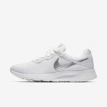 Nike Tanjun Lifestyle Shoes For Women White/Metallic Silver 260NQJMU