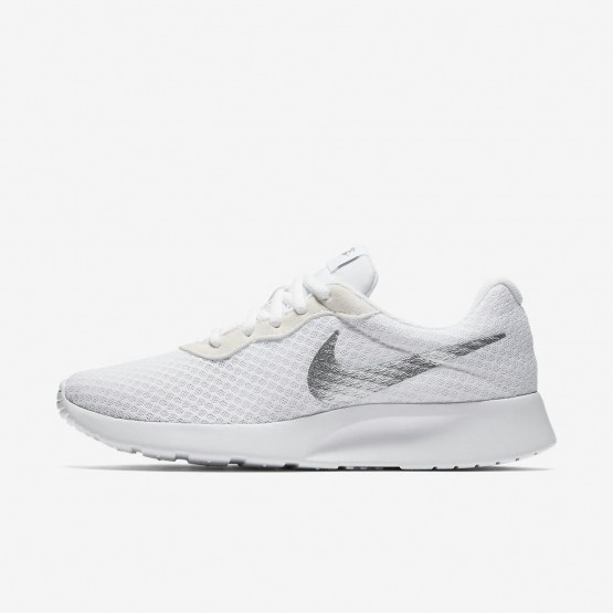 Nike Tanjun Lifestyle Shoes For Women White/Metallic Silver 260NQJMU