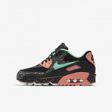 Nike Air Max 90 Pinnacle QS Lifestyle Shoes For Boys Black/Crimson Pulse/Vast Grey/Green Glow 516RVAUF
