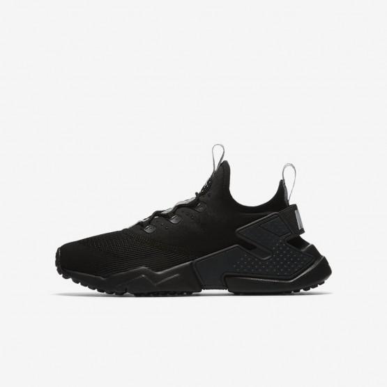Nike Huarache Run Drift Lifestyle Shoes For Boys Anthracite/Dark Grey/Wolf Grey 164DERWB