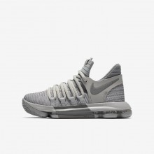 Nike Zoom KDX Basketball Shoes For Boys Wolf Grey/Cool Grey 331DBMRG