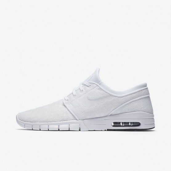Nike SB Stefan Janoski Max Skateboarding Shoes For Men White/Obsidian 505NKSZW