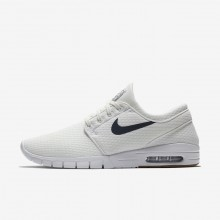 Nike SB Stefan Janoski Max Skateboarding Shoes For Men Summit White/Gum Medium Brown/White/Thunder Blue 490QPKSG