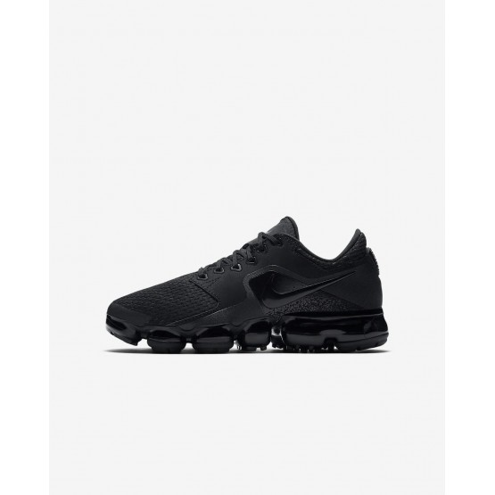 Nike Air VaporMax Running Shoes For Boys Black/Dark Grey/Total Crimson 611UAQEN