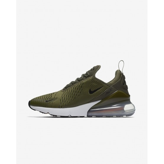 Nike Air Max 270 Lifestyle Shoes For Men Medium Olive/Total Orange/White/Black 404XNKSY