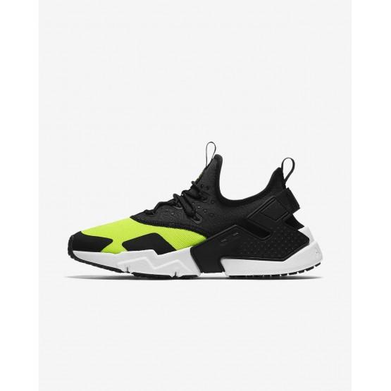 Nike Air Huarache Drift Lifestyle Shoes For Men Volt/White/Black 470HXDWT