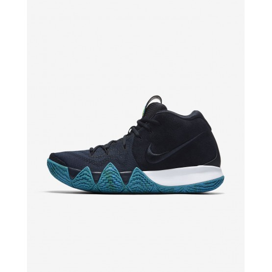 Nike Kyrie 4 Basketball Shoes For Men Dark Obsidian/Black 175ZFQDN