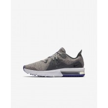 Nike Air Max Sequent 3 Running Shoes For Boys Dark Grey/Moon Particle/Persian Violet/Black 592YONKP