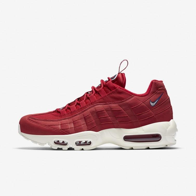 c4f73892eb4 Sapatilhas Casual Nike Air Max 95 Homem Vermelhas Azuis 466QPBJN