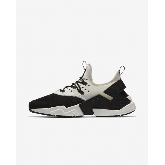Nike Air Huarache Drift Lifestyle Shoes For Men Black/White/Sail 443KOUVM