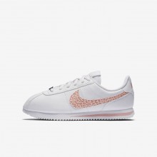 Nike Cortez Basic SL Lifestyle Shoes For Girls White/Rust Pink/Coral Stardust 959NCJRV